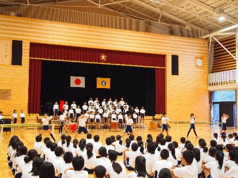 集会(4年生音楽祭前)