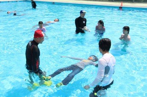 着衣泳体験