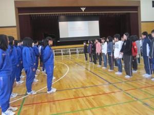 中学校半日入学 011