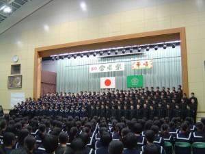 3年生学年合唱
