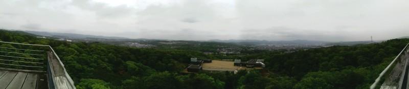 セラミックパークミノの展望台からの多治見市内