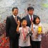 市長・教育長と岩井姉弟